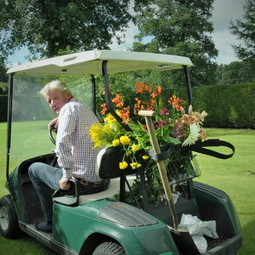 Carnell Estate Collecting flowers